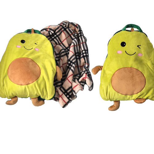 Авакадо плед подушка
